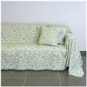 21C03GR3 Ριχτάρι τριθέσιου καναπέ 300x180cm, ακρυλικό σενίλ, γκρι, ελληνικής κατασκευής
