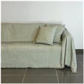 21C02GR3 Ριχτάρι τριθέσιου καναπέ 300x180cm, ακρυλικό σενίλ, γκρι, ελληνικής κατασκευής