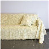 21C01BG4 Ριχτάρι τετραθέσιου καναπέ 350x180cm, ακρυλικό σενίλ, μπεζ, ελληνικής κατασκευής