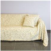 21C03BG2 Ριχτάρι διθέσιου καναπέ 250x180cm, ακρυλικό σενίλ, μπεζ, ελληνικής κατασκευής