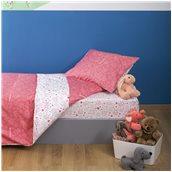 ZOU-BD-027 Σετ Παιδική Παπλωματοθήκη 160x240cm & Μαξιλαροθήκη 50x70cm, 100% Βαμβακι, 200 κλωστές,, Μπάμπουρας, Ροζ