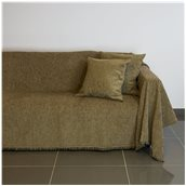 21C02BR2 Ριχτάρι διθέσιου καναπέ 250x180cm, ακρυλικό σενίλ, καφέ, ελληνικής κατασκευής