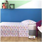 ZOU-BD-015 Σετ Παιδικά Σεντόνια 160x260cm & Μαξιλαροθήκη 50x70cm, 100% βαμβάκι, 200 κλωστές, Πεταλούδα