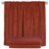 TWBA-100150-BD Πετσέτα σώματος μπορντώ 100x150cm, 100% Bamboo, 650gr/m², Fennel