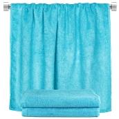 TWBA-100150-CN Πετσέτα σώματος γαλάζιο 100x150cm, 100% Bamboo, 650gr/m², Fennel