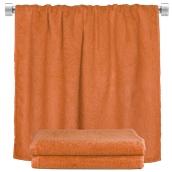 TWBA-100150-PMP Πετσέτα σώματος πορτοκαλί 100x150cm, 100% Bamboo, 650gr/m², Fennel