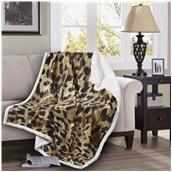 BMS390-130170-P002 Κουβέρτα καναπέ με γούνα, 190gsm Ming+200gsm sherpa, 130x170cm, fennel