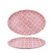 200-0004 Οβάλ Πιάτο Πορσελάνης 31x21x2cm, Σειρά ALJIBE, Κόκκινο, COK-ALAR