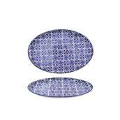 200-0020 Οβάλ Πιάτο Πορσελάνης 25x16.5x1.5cm, Σειρά ALJIBE, Μπλε , COK-ALAR