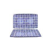 200-0019 Δίσκος Πορσελάνης 20x13x2cm, Σειρά ALJIBE, Μπλε , COK-ALAR