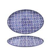 200-0016 Οβάλ Πιάτο Πορσελάνης 31x21x2cm, Σειρά ALJIBE, Μπλε , COK-ALAR