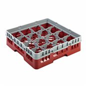 JD-16RB/RE Μπασκέτα Πλυντηρίου (κλειστού τύπου), 16 χωρίσματα, 50x50x14.3cm, κόκκινο