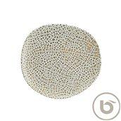 LPYWDVAO29DZ Πιάτο Ρηχό πορσελάνης, ακανόνιστο σχήμα, 29cm, Lapya, BONNA