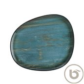 MDRMTVAO33DZ Πιάτο Ρηχό πορσελάνης, ακανόνιστο σχήμα, 33cm, Madera, BONNA