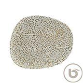 LPYWDVAO33DZ Πιάτο Ρηχό πορσελάνης, ακανόνιστο σχήμα, 33cm, Lapya, BONNA