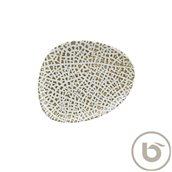 LPYWDVAO24DZ Πιάτο Ρηχό πορσελάνης, ακανόνιστο σχήμα, 24cm, Lapya, BONNA