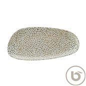 LPYWDVAO36DT Πιατέλα Ρηχή πορσελάνης, ακανόνιστο σχήμα, 36cm, Lapya, BONNA