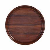 HOR355-101 Δίσκος laminated με αντιολισθητική επιφάνεια, στρογγυλός φ35.5cm, χρώμα ξύλου