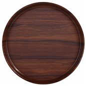 HOR405-101 Δίσκος laminated με αντιολισθητική επιφάνεια, στρογγυλός φ40.5cm, χρώμα ξύλου