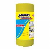 8571020021 Ρολό απορροφητικό πανί γενικού καθαρισμου περφορέ 14 μέτρα, κίτρινο, SANITAS PRO