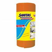 8571039607 Ρολό απορροφητικό πανί γενικού καθαρισμου περφορέ 14 μέτρα, πορτοκαλί, SANITAS PRO
