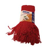 8571029760 Σφουγγαρίστρα Επαγγελματική με Νήμα Cotton Plus, Κόκκινη, SANITAS PRO