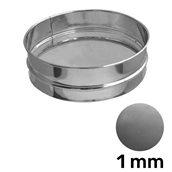 KOC-308/1MM Κόσκινο INOX 18/10, στρογγυλό φ30x8cm, ψιλή σίτα 1mm (αλεύρι)