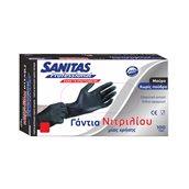 8571025951 Σετ 100τεμ γάντια ΝΙΤΡΙΛΙΟΥ χωρίς πούδρα, μαύρα, Medium