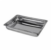 VNX-344406 Ταψί Πίτας/Παστίτσιου INOX 18/c (0.6mm), 34x44x6cm, οικονομικό με χείλος