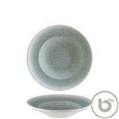 S-MT-LUCOCGRM24CK Πιάτο Βαθύ πορσελάνης 24cm, Luca Ocean Blue MATT, BONNA