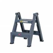 TR.6932/DGY Σκάλα Πλαστική, 2 Σκαλοπάτια, έως 150kg, EN 14183:2003, σκούρο γκρι, Trust