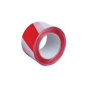 MARK-100/WR Ρολό 100 μέτρα ταινία σήμανσης 7cm, κόκκινη/άσπρη, (πάχος 25 μικρά)