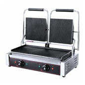 HEG-813 Ηλεκτρική Τοστιέρα Grill, διπλή, 48x22.5cm, Ραβδωτή, 3.6KW, KARAMCO