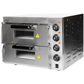 HEP-2ST Ηλεκτρικός Φούρνος Πίτσας, Διπλός, θάλαμος 40x40cm, 3KW, έως 350°C., KARAMCO