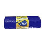 FLEX-80110-10/BL Ρολό 10 τεμ. σακούλες σκουπιδιών, 80x110cm, με άρωμα βανίλιας, μπλε
