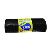 FLEX-80110-10/BK Ρολό 10 τεμ. σακούλες σκουπιδιών, 80x110cm, με άρωμα βανίλιας, μαύρες