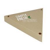 P009407 Χάρτινη συσκευασία τριγωνική Green Line, για κρέπες, 25x25x25xΥ4cm, μιας χρήσης, ROIS Bros