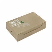 P009403 Χάρτινη συσκευασία Easy-Open Green Line, για Club, 22x13x5.5cm, μιας χρήσης, ROIS Bros