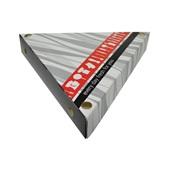 P005203 Χάρτινη συσκευασία τριγωνική B&W, για κρέπες, 25x25x25xΥ4cm, μιας χρήσης, ROIS Bros