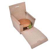 P009411 Χάρτινη συσκευασία Premium Burger, Kraft, 11.5x11x8.5cm, μιας χρήσης, ROIS Bros