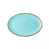 360C-OP-31 Πιάτο Οβαλ πορσελάνης, 31cm, Θαλασσί, σειρά 360, LUKANDA