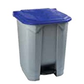 KDNR-70LT/BL Κάδος πλαστικός 70Lt, με πεντάλ, γκρι, μπλε καπάκι, 53x44xΥ74cm