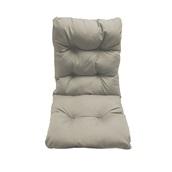 AI-MX-11166 Μαξιλάρι καρέκλας 45x105x8cm με πλάτη, Bamboo, Υδρόφοβο, Γκρι, Artisti Italiani