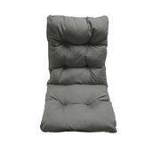 AI-MX-11165 Μαξιλάρι καρέκλας 45x105x8cm με πλάτη, Bamboo, Υδρόφοβο, Ανθρακί, Artisti Italiani