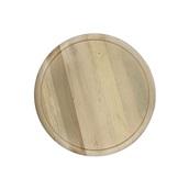 HE.02-220 Δίσκος στρογγυλός φ29cm, ξύλινος με λούκι