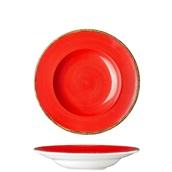 360D-PP-27 Πιάτο Ζυμαρικών πορσελάνης 27cm, Κόκκινο, σειρά 360, LUKANDA