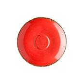 360D-SC-100 Πιατάκι πορσελάνης για φλυτζάνι 100cc, Κόκκινο, σειρά 360, LUKANDA