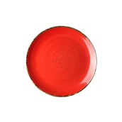 360D-FP-25 Πιάτο Ρηχό πορσελάνης, Φ25cm, Κόκκινο, σειρά 360, LUKANDA