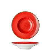 360D-PP-24 Πιάτο Ζυμαρικών πορσελάνης 24cm, Κόκκινο, σειρά 360, LUKANDA