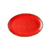 360D-OP-31 Πιάτο Οβαλ πορσελάνης, 31cm, Κόκκινο, σειρά 360, LUKANDA